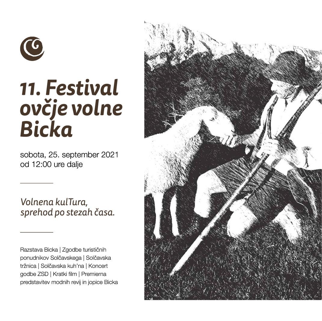 11. FESTIVAL OVČJE VOLNE BICKA, sobota, 25. september 2021 od 12:00 ure dalje na Solčavskem (vas Solčava)